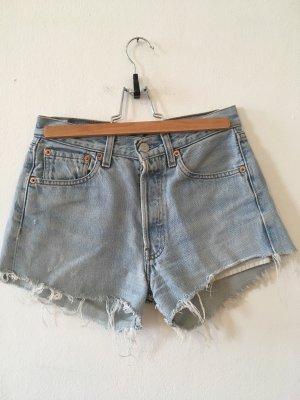 Levi's 501 shorts hellblau fransen