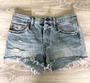 Levi's Pantalón corto de tela vaquera azul claro