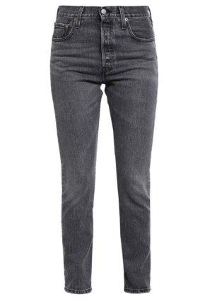 Levi's 501 Skinny Jeans Skinnyjeans Denim Slim 27/30 grau grey black high waist 7/8 Länge Neu!