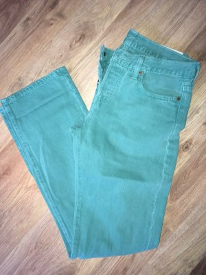 Levi's 501 soft green W26 L32 Boyfriend Cut