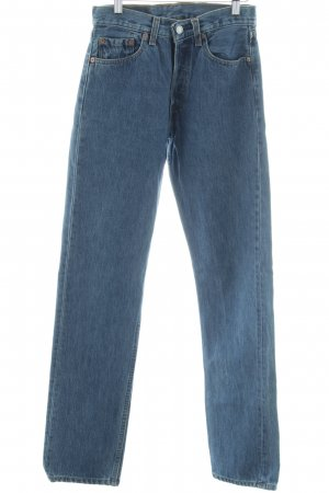 Levi's 501 stahlblau Washed-Optik