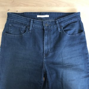 Levi's High Waist Jeans blue-dark blue cotton