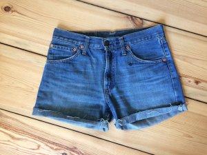 LEVI'S 525 cut off Shorts | Cut Offs abgeschnitten blau Boho Coachella | W30 S