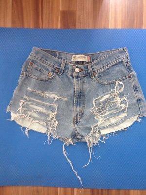Levi's 530 32 Shorts unfit lässig destroyed Retro LA Kardashian Sommer Festival Urlaub