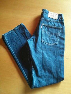 Levi's Jeans cigarette bleu foncé-bleu coton