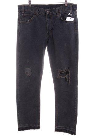 Levi's Jeans a 7/8 antracite stile urbano