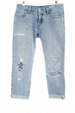 Levi's 7/8-jeans azuur casual uitstraling