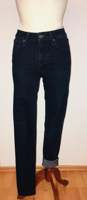 Levi's Hoge taille broek donkerblauw