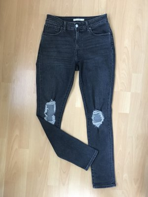 Levi's 721 high rise skinny rugged Black