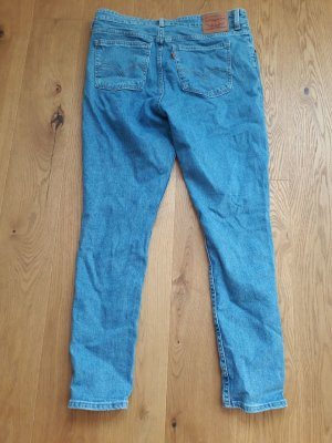 Levi's High Waist Jeans cornflower blue cotton