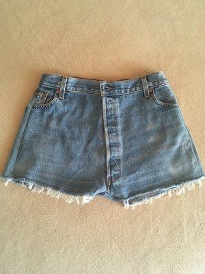 Levi's Pantalon court bleu azur