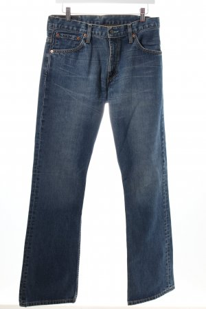 Levi's Boot Cut Jeans blau-wollweiß Casual-Look