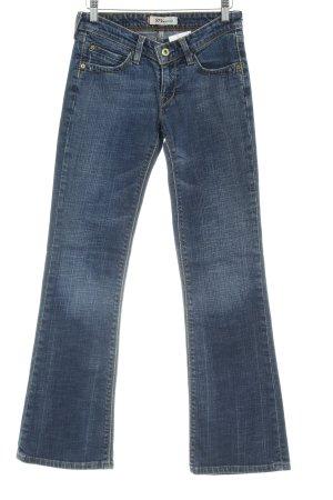 Levi's Boot Cut Jeans dunkelblau meliert Casual-Look