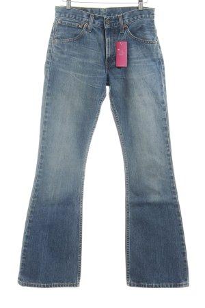 Levi's Boot Cut Jeans stahlblau-blau 70ies-Stil