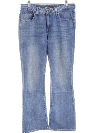 Levi's Boot Cut Jeans stahlblau Casual-Look