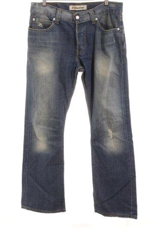 Levi's Jeans bootcut bleu acier-bleu foncé style déchiré
