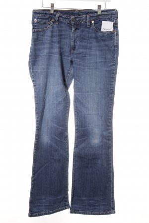 Levi's Boot Cut Jeans stahlblau Used-Optik
