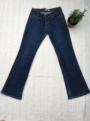 LEVI'S Bootcut Jeans, dunkelblau ohne Waschung, 28/30 Mid Waist, Allroundtalent