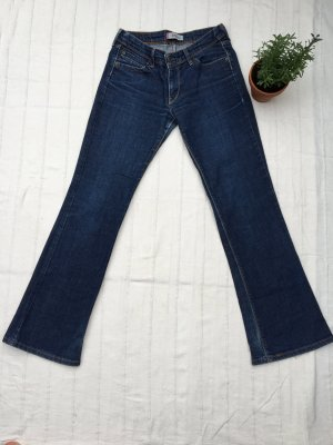 LEVI'S Bootcut Jeans, dunkelblau ohne Waschung, 30/32 Mid Waist, Allroundtalent