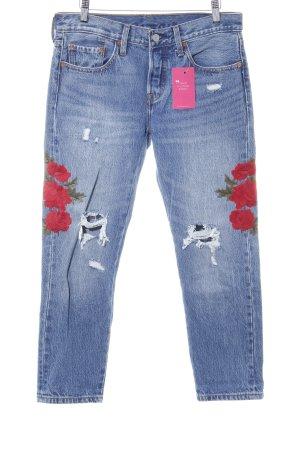 Levi's Jeans boyfriend bleu-rouge foncé style décontracté
