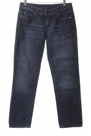 Levi's Boyfriend jeans donkerblauw gestippeld casual uitstraling