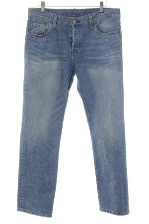Levi's Jeans boyfriend bleu acier-beige clair style décontracté