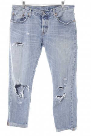Levi's Boyfriendjeans stahlblau Jeans-Optik