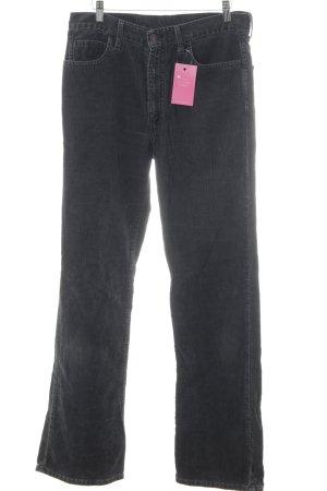 Levi's Pantalone di velluto a coste antracite stile casual