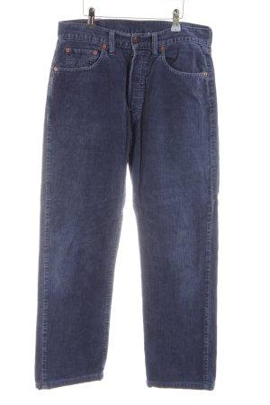 Levi's Pantalone di velluto a coste blu stile casual