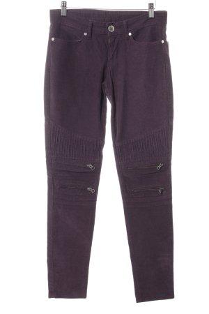 Levi's Pantalone di velluto a coste viola stile casual