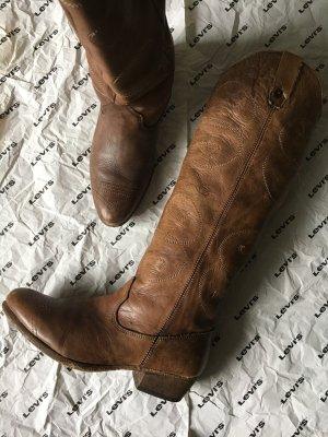 Levi's Botas estilo vaquero marrón-marrón claro