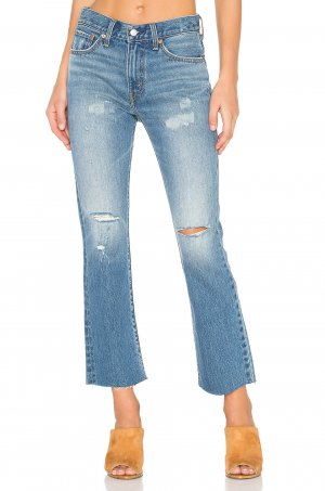 Levi's Damen Blau Denim Distressed Ankle Jeans 27 Neu