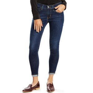 Levi's  damen Denim Ankle Dark Wash Mid Rise Skinny Jeans  27