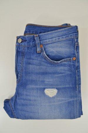 LEVI'S Damen Jeans Mod. 501 Boxfriend Used Blue Vintage Relaxed Blau Gr.28/27