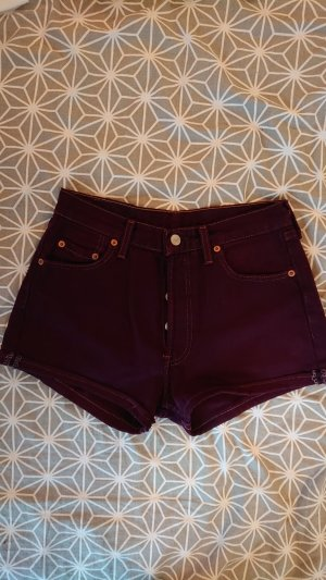 Levi's Hot pants bordeaux