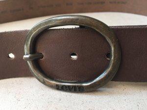 Levi's Cinturón de cuero marrón