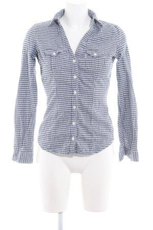 Levi's Blusa-camisa blanco-azul look casual
