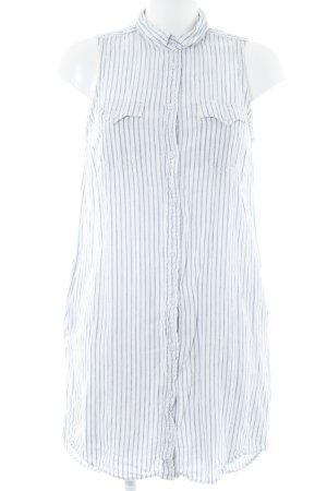 Levi's Hemdblusenkleid weiß-himmelblau Streifenmuster Casual-Look
