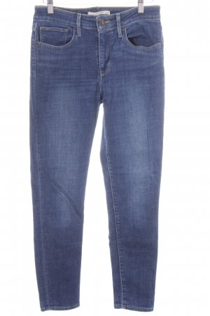 Levi's High-Waist Hose blau Street-Fashion-Look