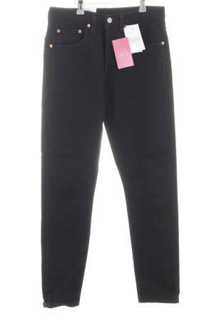 Levi's Jeans taille haute noir style décontracté