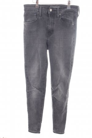 Levi's Hoge taille jeans lichtgrijs casual uitstraling