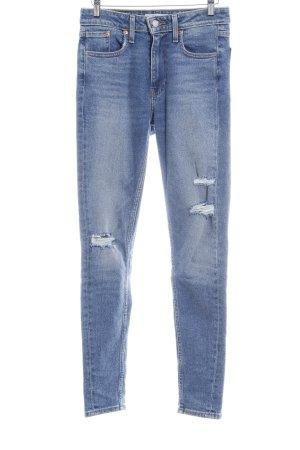 """Levi's Jeans taille haute """"721 High Rise Skinny"""" bleu acier"""