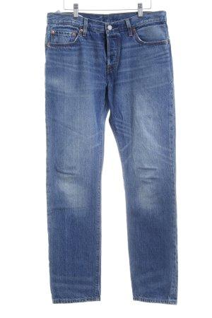 Levi's High Waist Jeans blau Metallknöpfe