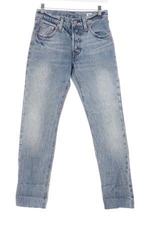 Levi's High Waist Jeans blau Street-Fashion-Look