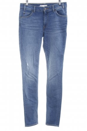 Levi's Hoge taille jeans donkerblauw casual uitstraling