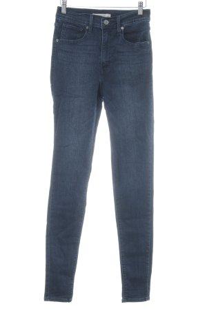 Levi's Jeans taille haute bleu foncé style décontracté