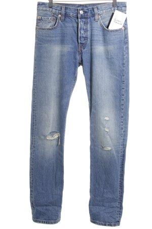 Levi's High Waist Jeans dunkelblau-himmelblau Urban-Look