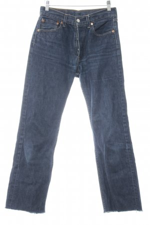 Levi's Hoge taille jeans donkerblauw Jeans-look