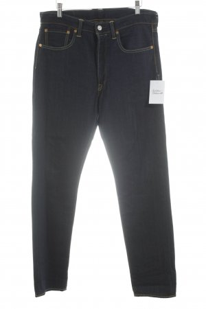 Levi's Hoge taille jeans donkerblauw vintage uitstraling