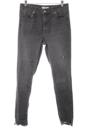 Levi's High Waist Jeans dunkelgrau Casual-Look